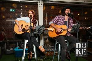 One Talented Family: Tanya and brother Ryan Cornish gigging at The Duke.